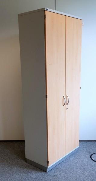 CEKA - Kleiderschrank 5 OH, B 80 cm buche/silber