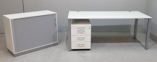 WINI Set - Schreibtisch + Container + Schrank