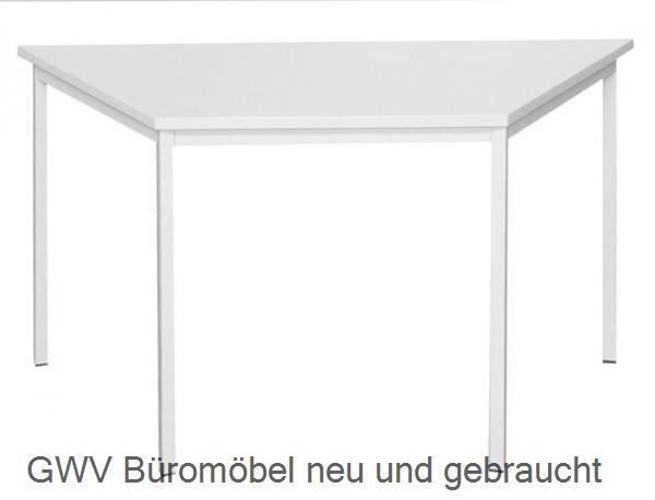 Trapeztisch 140 x 70 cm, lichtgrau