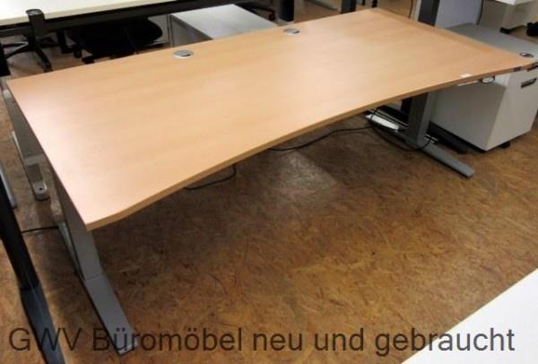 K & N - Steh- Sitz- Schreibtisch 200 cm buche Ergo