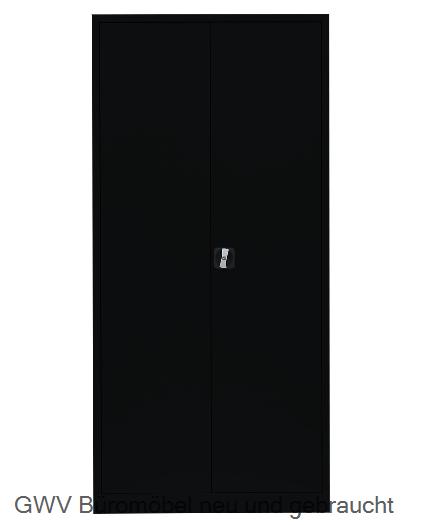 Stahl- Akten- / Kleider- Schrank, schwarz
