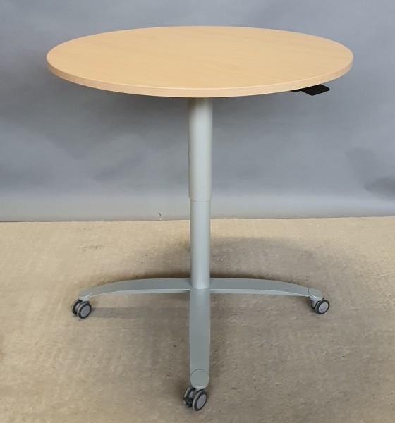 CEKA - Steh-Sitz- Besprechungstisch D 80 cm, buche