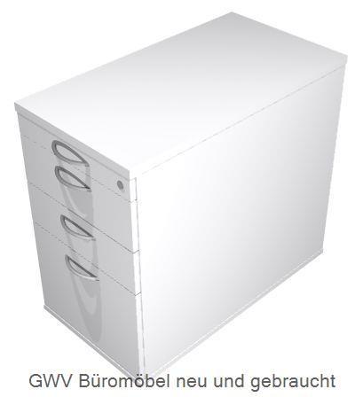 Anstellcontainer HR, T 80 cm grau