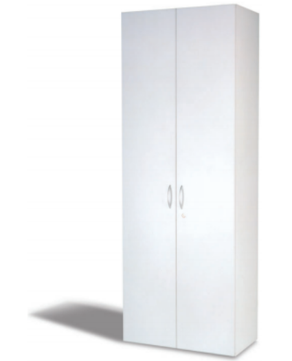 Kleiderschrank, B 80 cm grau