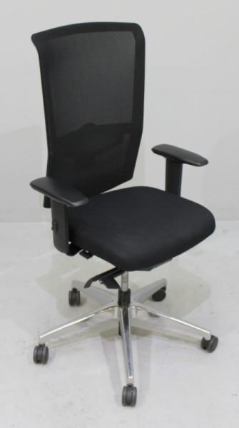 Interstuhl - Bürodrehstuhl schwarz / Netzrücken