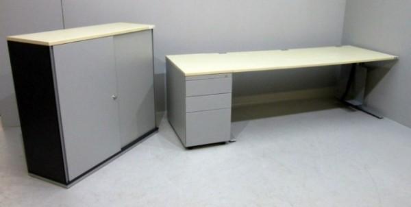 K & N - Set - Tisch + Anstellcont. + Sideboard