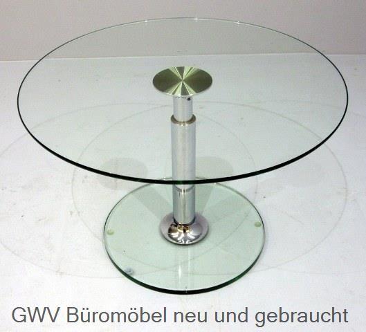Besprechungstisch - Glastisch rund 80 cm