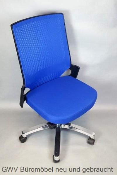 Bürodrehstuhl - Auto Synchron, blau/ schwarz