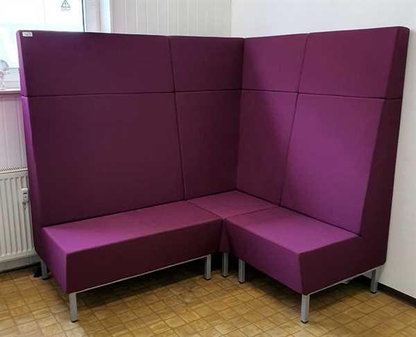 Lounge-Eck-Sitzbank B 175/140 cm, aubergine