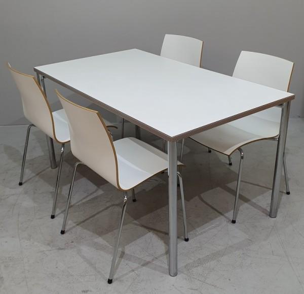 Kusch + Co - Set- Tisch + 4 Stühle weiß