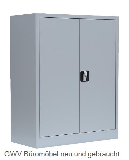 Stahl- Akten- Sideboard 2,5 OH, B 80 cm lichtgrau | Schränke Stahl ...