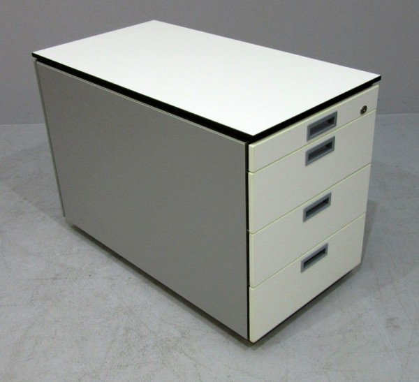 K & N - Rollcontainer T 80 cm, weiß/schwarz