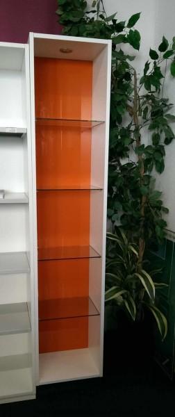 Febrü - Regal m. Glasböden und LED 5 OH, B 40 cm