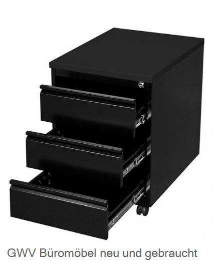 Stahl- Rollcontainer T 60 cm, schwarz