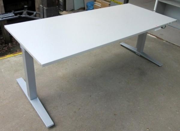 K & N - Steh- Sitz- Schreibtisch 200 cm, grau