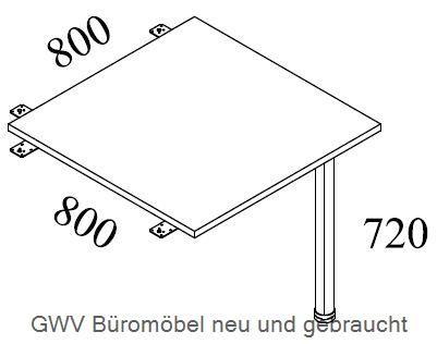 Eck- Verkettungsplatte B 80 cm, grau