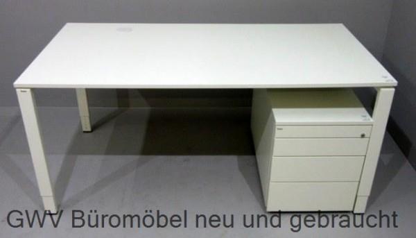 Bene Schreibtisch 160 Cm Weißb 160 X T 80 X Hv 65 85 Cm