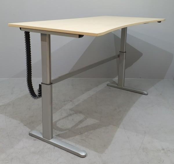 CEKA - Steh- Sitz- Schreibtisch 200 cm, ahorn Ergo
