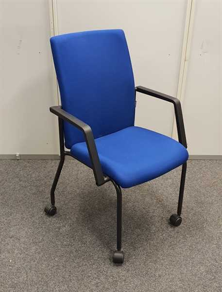 Dauphin - Besucherstuhl auf Rollen, blau