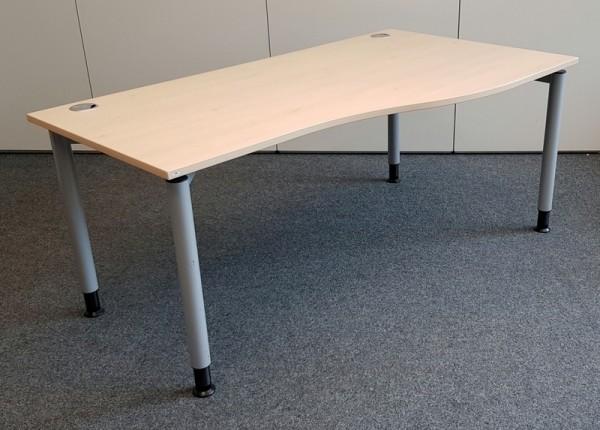 SM - Freiform- Schreibtisch 180 cm / R, ahorn