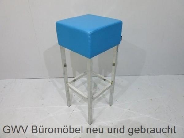 SMV   Barhocker   Bezug Lederoptik Blau