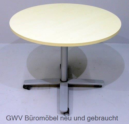 K & N - Besprechungstisch - Steh- Sitz D 90, ahorn