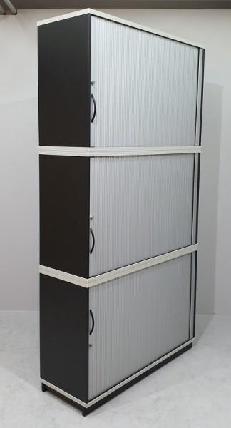 CEKA - Querrolloschrank 6 OH, B 120 cm schwarz
