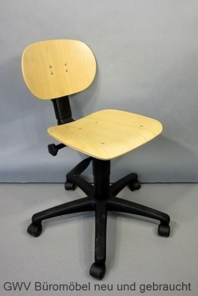 Arbeitsstuhl - Tec 11, niedrig - Holz