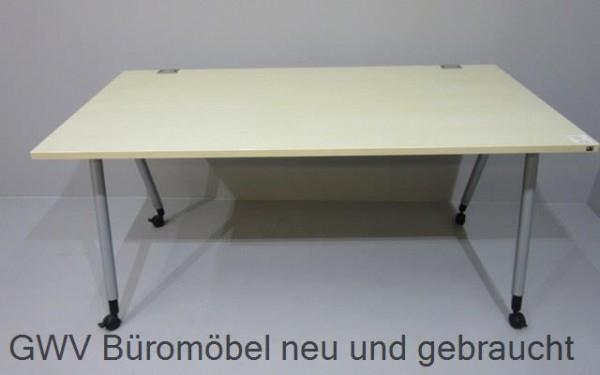 10 x K & N - Schreibtisch 160 cm, ahorn