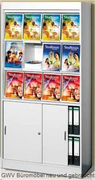 Print - Prospektschrank, 12 x A4
