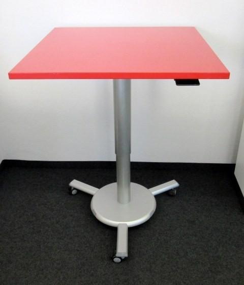 K & N - Steh- Sitz- Besprechungstisch 80 cm, rot