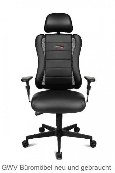 Express 023 - Bürodrehstuhl Kunstleder schwarz