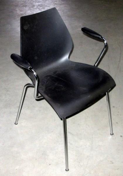 Besucherstuhl mit AL, schwarz