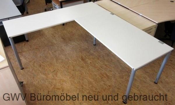 K & N - Winkelschreibtisch 220 x 200 cm, weiß