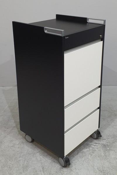 Bene - Caddy / Aktendiener T 46 cm, schwarz/weiß