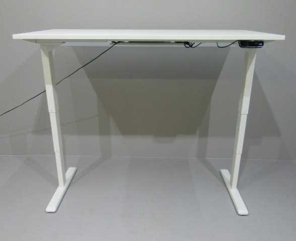Steh- Sitz- Tisch B 160 cm, Gestell weiß