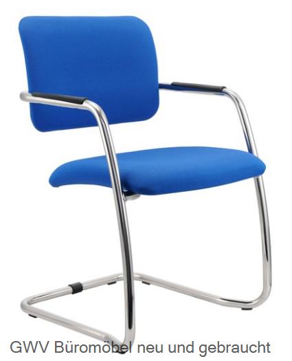 Freischwinger 2er Set, blau