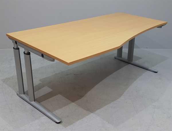 MBT - Freiform- Schreibtisch (L) 180 cm, buche