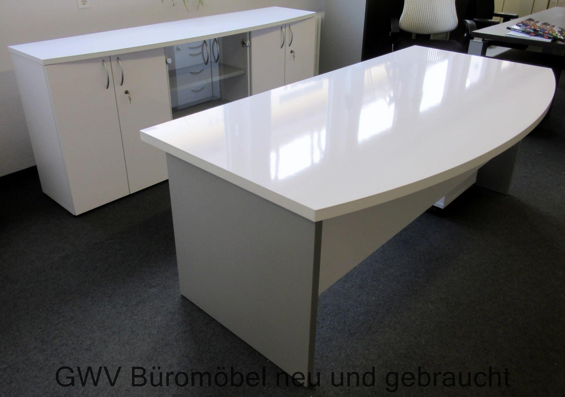 chefbuero schreibtisch neuware 200 cm 100 cm hoehe 75 cm seitenwangen wei aluminium hochglanz. Black Bedroom Furniture Sets. Home Design Ideas