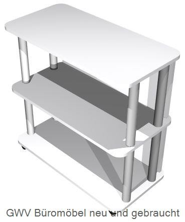 Mobiler Aktendiener 2 OH, B 80 cm grau