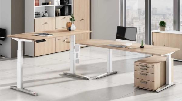 Steh-Sitz-Winkel-Schreibtisch 260 x 240 cm