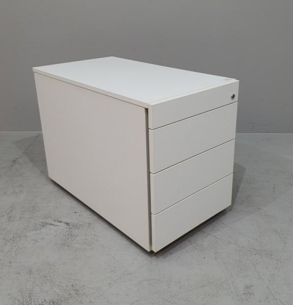 Rollcontainer T 80 cm, weiß matt