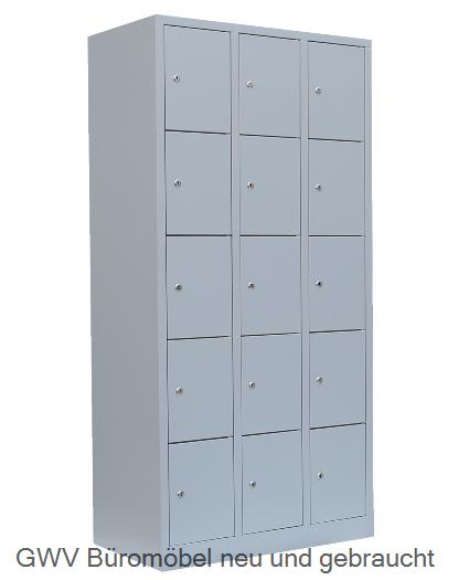 Stahl Fächer Schrank 15 Fächer B 180 cm180 x 120 x 50 cm 8