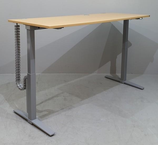 K & N - Steh-Sitz-Schreibtisch 200 x 100cm, buche