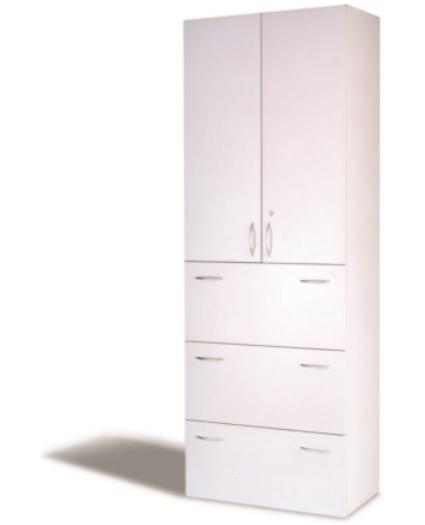 Türen- Hängeregisterschrank, B 80 cm grau