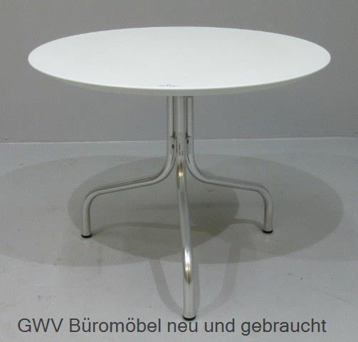 Beistelltisch - Loungetisch rund D 70 cm weiß