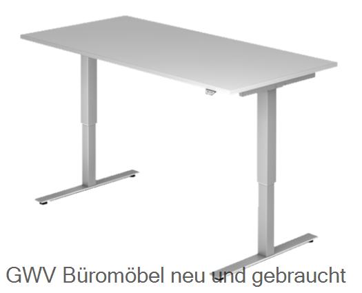 steh sitz schreibtisch breite 160 cm 160 x 80 x hv 73 5 119 cmelektrisch h henverstellbar m. Black Bedroom Furniture Sets. Home Design Ideas