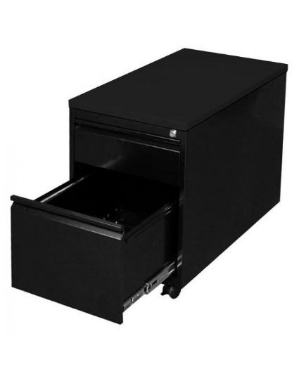 Stahl- Rollcontainer T 60 cm, HR schwarz