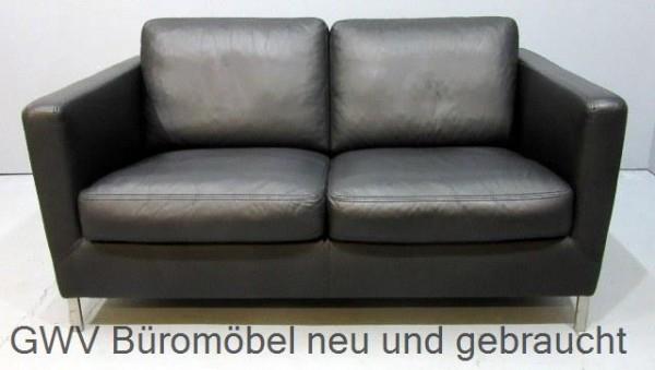 Loungemöbel Wk Ledersofa Schwarz Mit Stellfüßen Chrom Bauhausstil