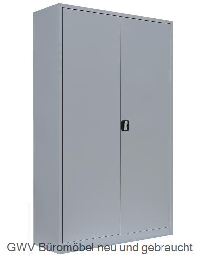 Stahl- Akten- Schrank 5 OH, B 120 x T 42 cm